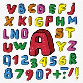 Hand Drawn Childish Alphabet