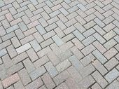 Grey Brick Rectangles Masonry On The Ground Or Background poster