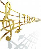 pic of music note  - golden musical notes - JPG