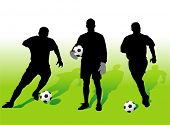 Soccer players silhouettes - vector illustration!