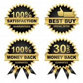 Vector Set of Seals - Eps8.  Vector Money Back -Satisfaction - Best Buy...