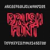 Brush Lettering Alphabet Font. Uppercase Brush Stroke Dirty Grunge Letters. Stock Vector Typeface. poster