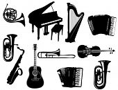 pic of musical instruments  - Instruments - JPG