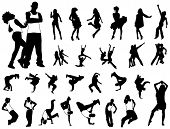 Hip hop dancers