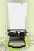 typewriter.Vector illustration.