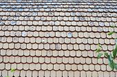 Old, Wooden Shabby Roof Of A Country House. Wood Texture. poster