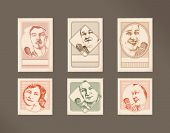 Postage stamps- freedom of speech- people with microphones -2
