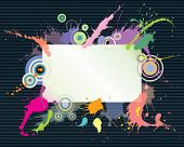 bunte Splash und Text Raumgestaltung, Abbildung Vektordatei