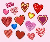 image of valentine heart  - Valentine hearts collection - JPG