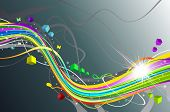 Colorful lines - vector abstract background