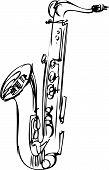 esboço bronze saxofone alto instrumento musical