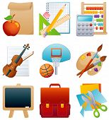 Vektor-Illustration - Bildung-Icon-set