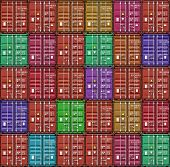foto of container ship  - Stack of freight containers at the docks - JPG