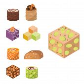Sweets East Delicious Dessert Food Vector Confectionery Homemade Assortment Chocolate Cake Tasty Bak poster