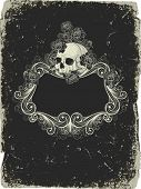 picture of skull bones  - background with skull - JPG