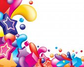 Vector. Diseño colorido abstracto. Espacio libre para el texto