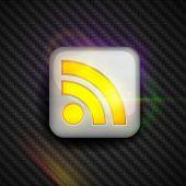 RSS feed-Symbol im Auto Rennsport-Stil. Alle Elemente sind voll editierbar. RGB-Farbraum. Genießen Sie!