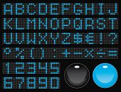 dot-matrix display font (50 characters)