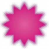 estrela roxa (da série de desenho de pontos)