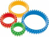 colorful gears set