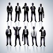 Businessmen in a vector