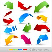 pic of arrow  - Collection of colour arrows - JPG