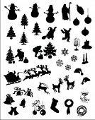 christmas vector silhouettes