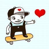 Skater boy. Vector illustration.