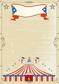 Old Circus Grunge Poster