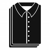 Clean Shirts Icon. Simple Illustration Of Clean Shirts Vector Icon For Web Design Isolated On White  poster