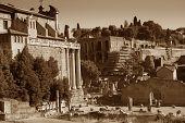 Fori Imperiali Ancient Ruins In Rome