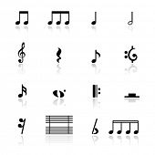 stock photo of clefs  - Icons set music note - JPG