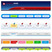 Clean vector, easy to edit web navigation templates 2
