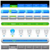 Clean vector, easy to edit web navigation templates 10