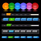 Clean vector, easy to edit web navigation template 14