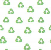 Recycling Seamless Pattern Cover. Recycling Icon Creative Design. Wallpaper, Web Design, Textile, Pr poster