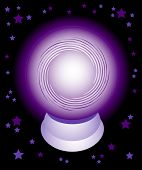 A purple glowing crystal ball. Can it see your future?