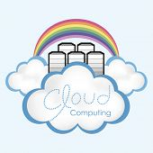 Cloud computing concept. Computer servers located in the