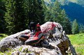 Wanderschuhe zum Wandern in den Bergen