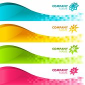 Banner Colorful Pixels