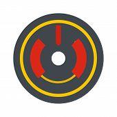 Digital Gun Aim Icon. Flat Illustration Of Digital Gun Aim Vector Icon For Web Isolated On White poster
