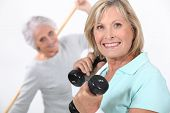 picture of 55-60 years old  - Women in the gym - JPG