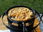 Cooking A Funnel Cake
