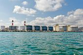 image of lng  - LNG Tanks at the Port of Barcelona - JPG
