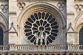 Stained Facade Window Of Notre Dame