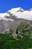 mountain  Alphubel  - Wallis, Swiss alps