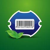Barcode tag label nature