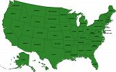 picture of usa map  - State editable vector map of the USA - JPG