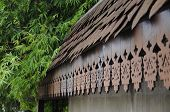 Placa de madera malayo tradicional de la Fascia