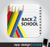 back to school - app icon for mobile devices